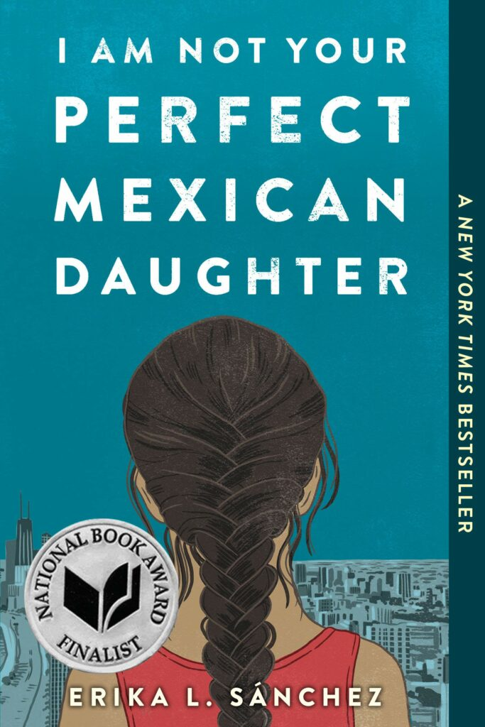 Girl with long braid on cover of I Am Not Your Perfect Mexican Daughter