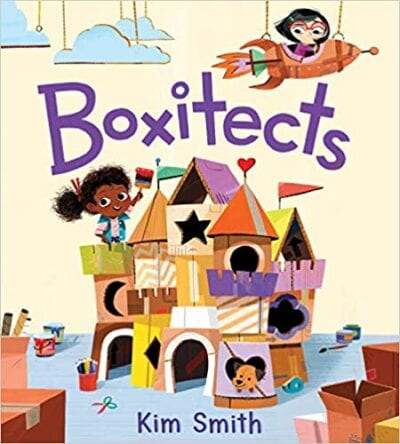 Book cover for Boxitects as an example of books about teamwork for kids