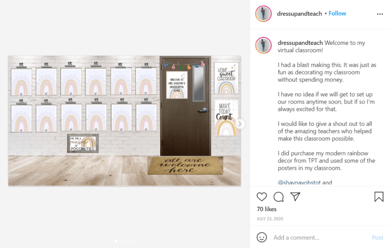 Still of bring hygge to your classroom by keeping it neutral from Instagram