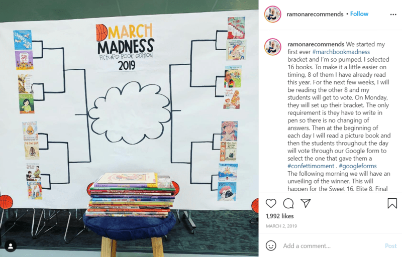 Still of build your school's reading culture by making it for the win from Instagram
