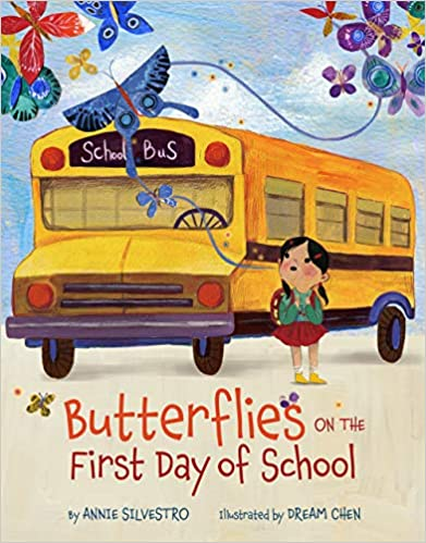 Butterflies on the first day of school book cover