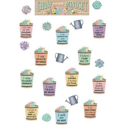 Cactus-themed growth mindset bulletin board for classroom