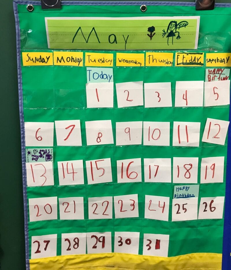 Calendar created by students