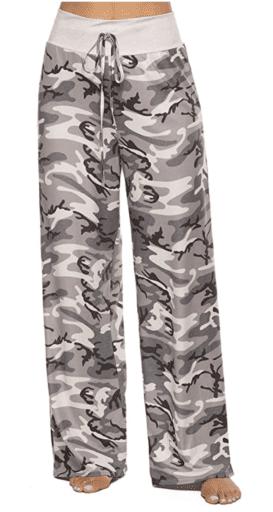 Camo print women's pajama bottoms