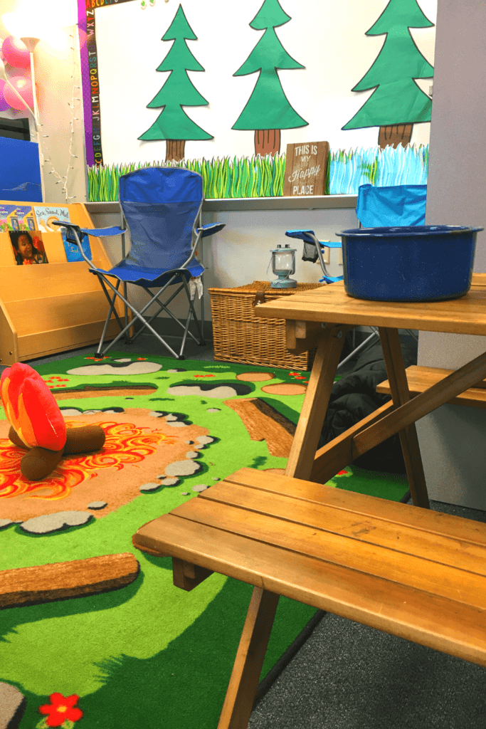 Campground classroom theme decor ideas