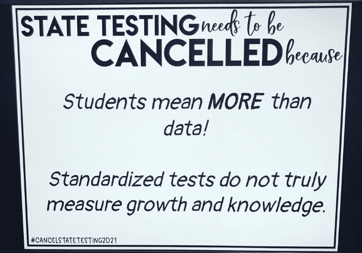 Sign that says students are more important than data