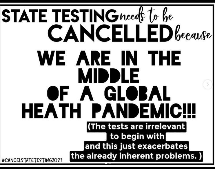 Sign in support of cancel state testing movement