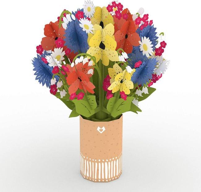 3-D paper flower bouquet (Cards for Teachers)