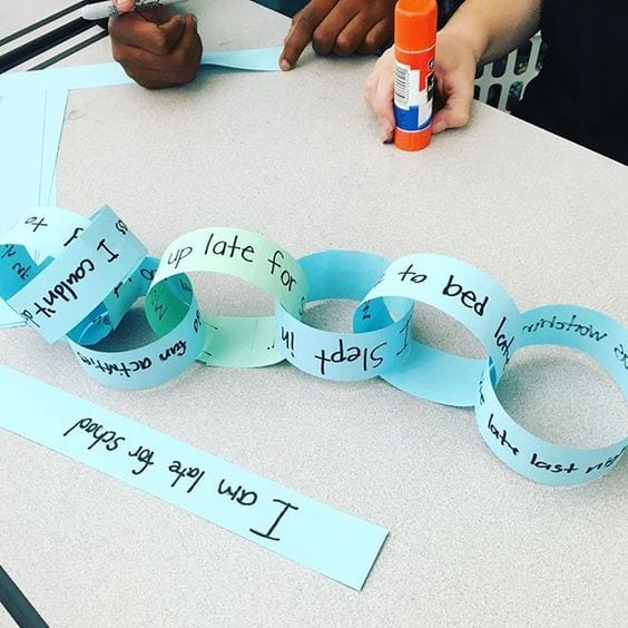 Paper Chain Lesson to Teach Cause and Effect