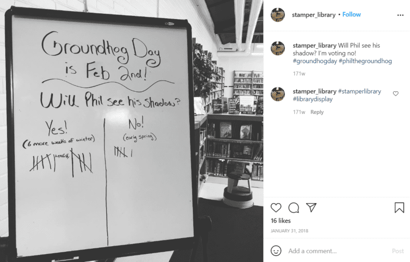 Still of celebrate groundhog day by making simple predictions from Instagram