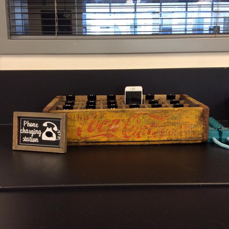 Vintage E Crate Charging Station
