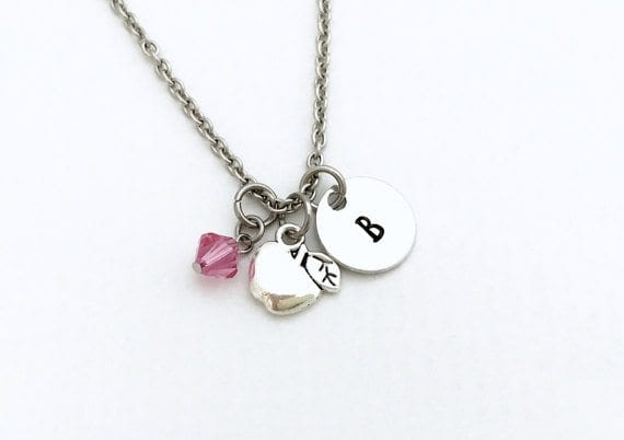 teacher jewelry - charm necklace