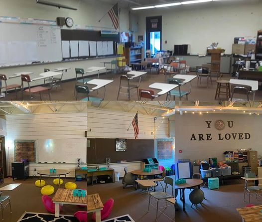 Classroom before and after photos from Cheyenne H