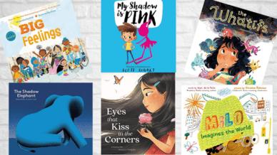Collage of children's books that teach social skills
