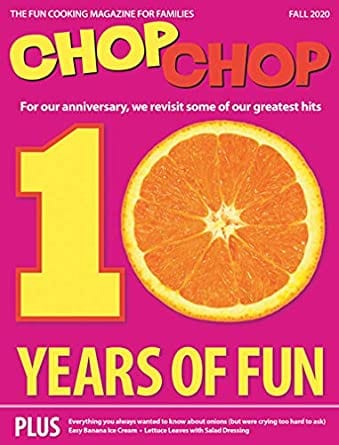 Sample issue of Chop Chop magazine as an example of best magazines for kids