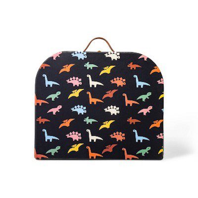 Paper box with colorful dinosaur pattern