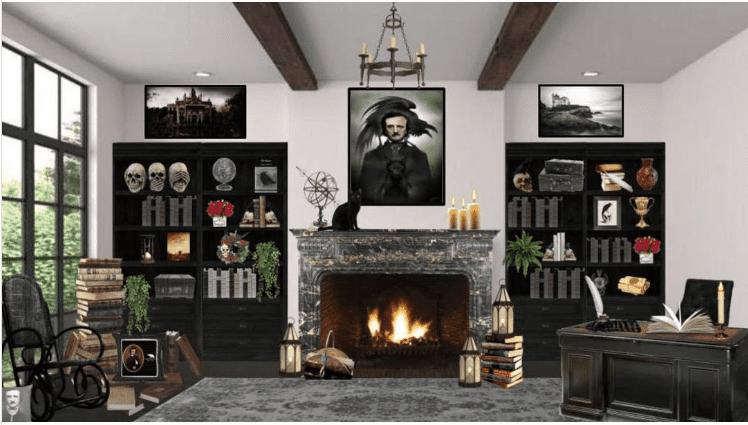 Edgar Allen Poe Bitmoji Classroom