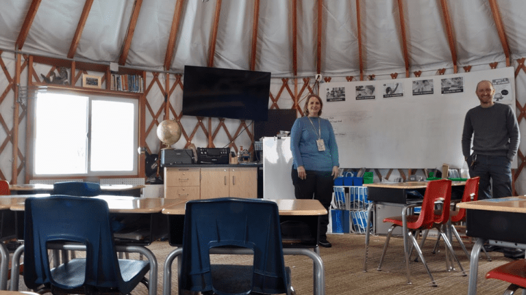 Working Inside a Yurt