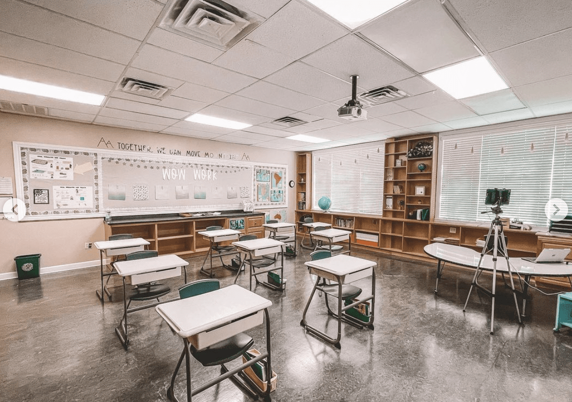 Classroom after photo