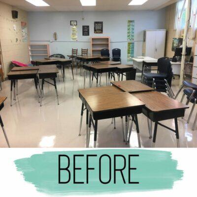 Classroom before photo