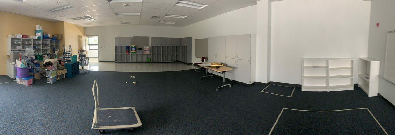Empty classroom before photo