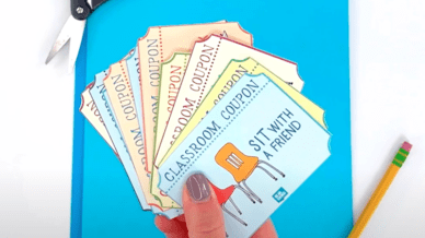 Classroom Coupons spread apart