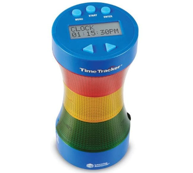 Digital timer with red, yellow, and green lights to indicate countdown (Classroom Timers)