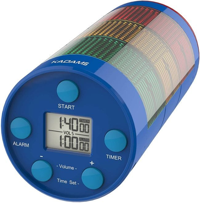 Digital timer with green, yellow, and red indicator lights