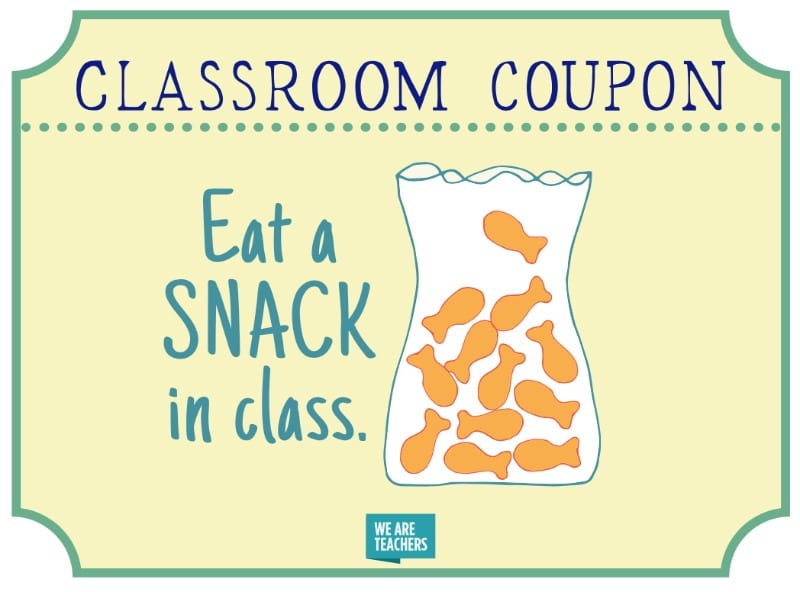 Printable Classroom Coupons Your Students Will Love