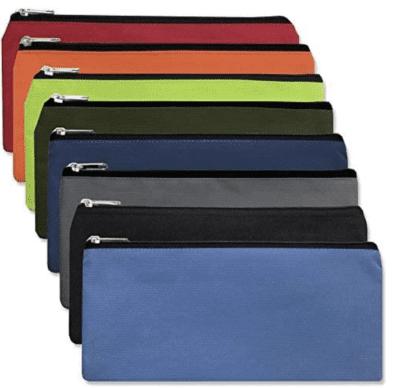 Cloth colored pencil pouches