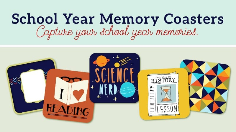 graphic relating to Printable Coasters called No cost PRINTABLE: 5 Memory Coasters in direction of Catch the Faculty
