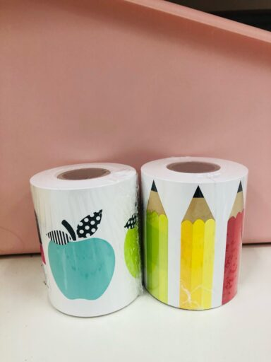Apple and pencil borders from Target