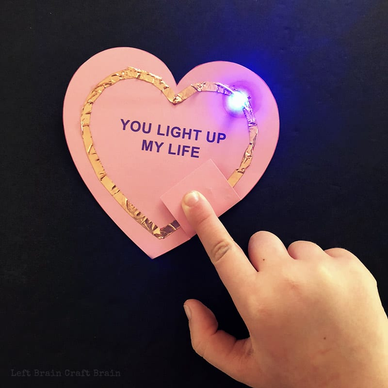 """Electricity experiment in a heart with the words """"You light up my life"""""""