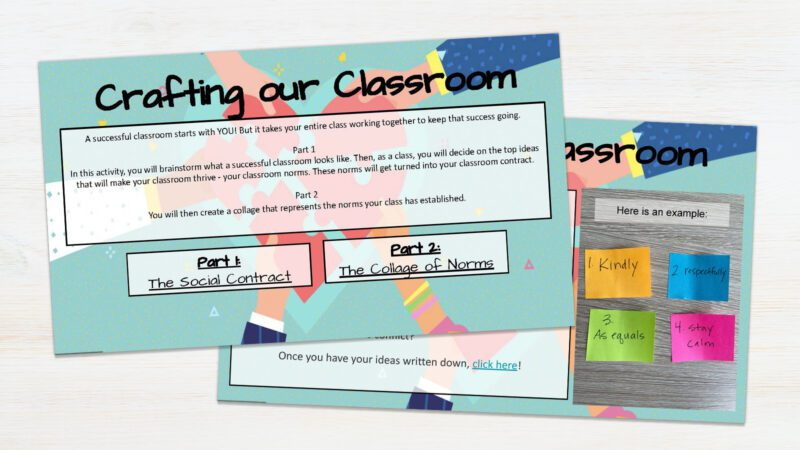 Screenshot of Crafting Our Classroom mini-lesson