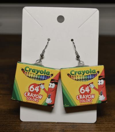 Crayola 64 pack dangle earrings