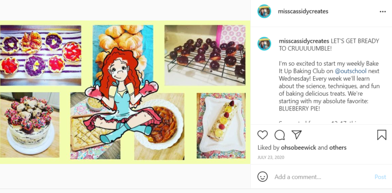 Teacher creates baking class for teens on Outschool