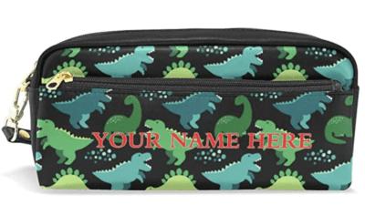 Customized name dinosaur cute pencil pouch