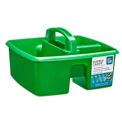 Green supply caddy.