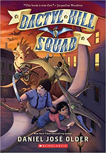 Book cover for the first title in the Dactyl Hill Squad series as an example of fantasy books for kids