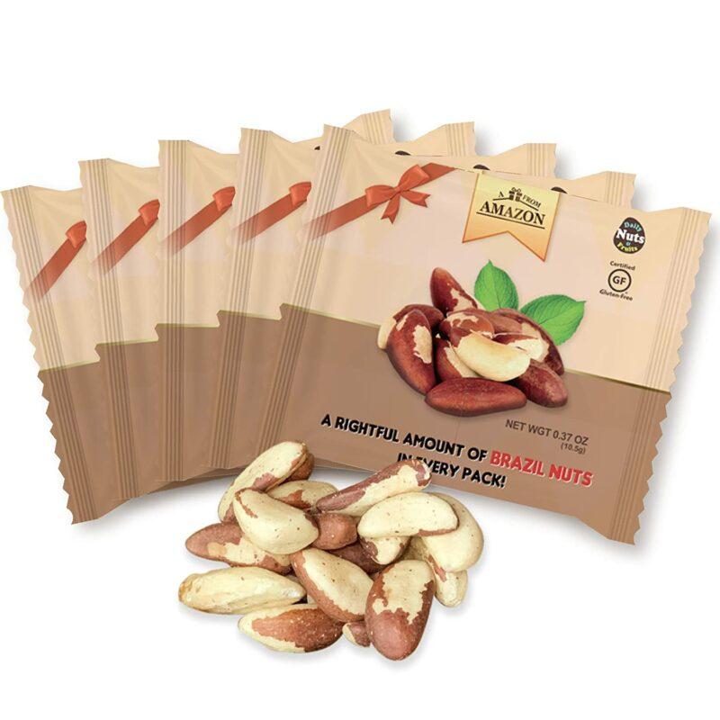 Ruh halinizi yükselten yiyeceklere örnek olarak gösterilen Günlük Brezilya Fıstığı Çoklu Paketleri