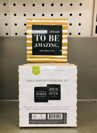 Daily inspirational messages in a box from Target
