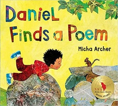 Book cover for Daniel Finds a Poem as an example of poetry books for kids
