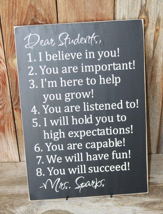 teacher signs