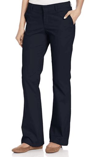 Dickies women's boot cut slim fit pants