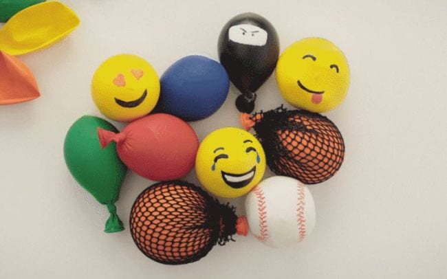 Colorful stress balls made from balloons (DIY Fidgets)