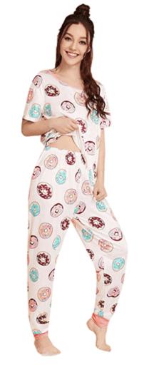 Women's donut pajama set