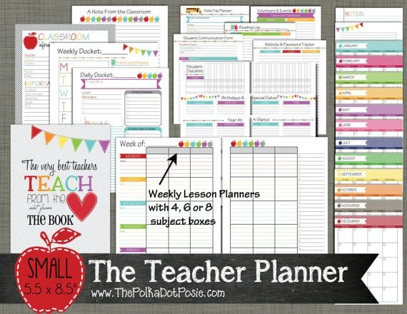 10 awesome planners for teachers erin condren lesson plans etc