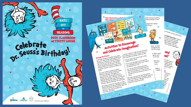 Spread of Dr. Seuss's birthday activity guide