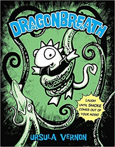 Book cover for Dragonbreath Book 1 as an example of books like Dog Man