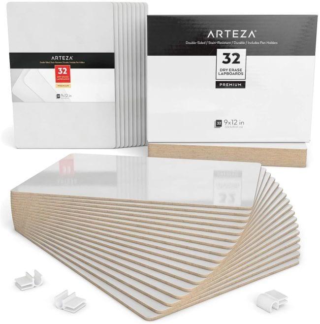 Arteza 9x12 dry erase lapboards, set of 32